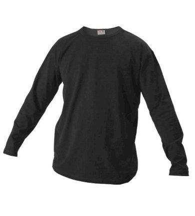 Tričko s dlouhým rukávem Xfer 160 - černé, XL