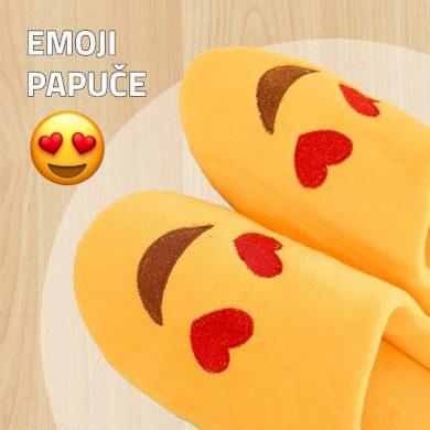 Emoji papuče In Love - žluté