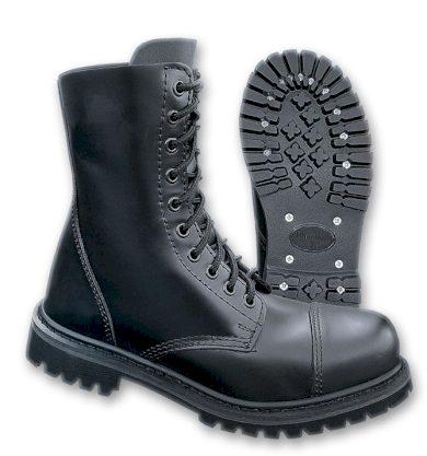 Boty Brandit Phantom Boots 10-dírkové - černé, 4