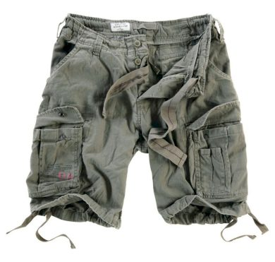 Kraťasy Airborne Vintage Shorts - olivové, S