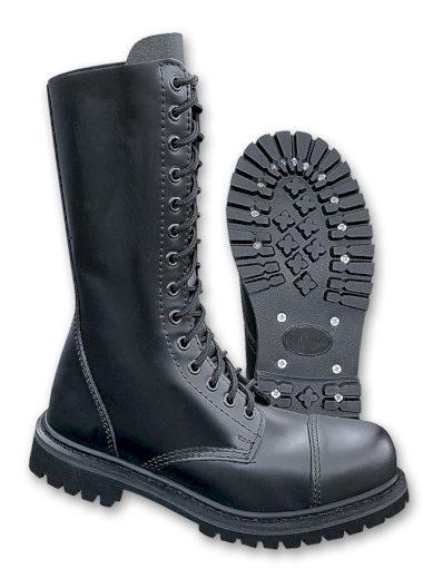 Boty Brandit Phantom Boots 14-dírkové - černé, 4