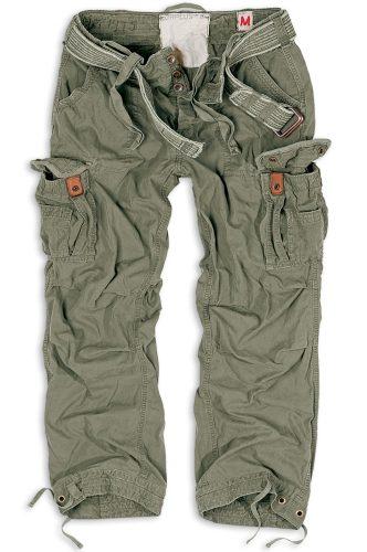 Kalhoty Premium Vintage - olivové, S