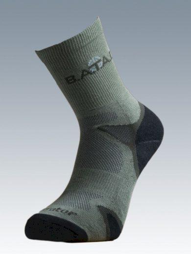 Ponožky se stříbrem Batac Operator - zelené, 23-24 = EU 35-37