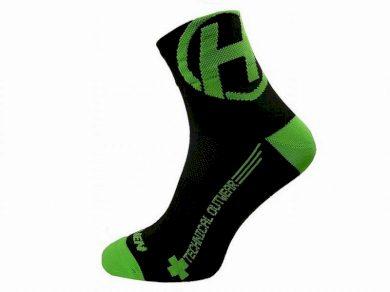 Ponožky Haven Lite Neo 2 ks - černé-zelené, 3-5