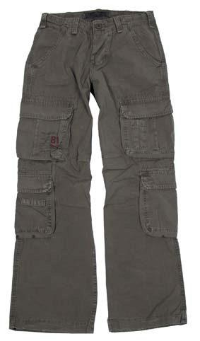 Kalhoty Cargo Defense - olivové, S