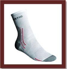 Sportovní ponožky - bílé-šedé, 23-24 = EU 35-37