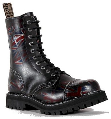 Boty Steel 10-dírkové barvy Velké Británie, 37