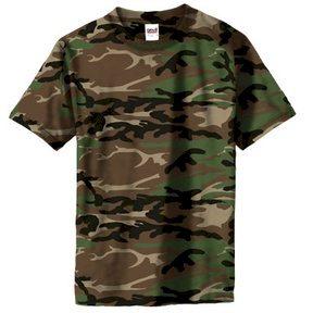 Maskáčové tričko Anvil - woodland, S