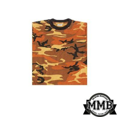 Tričko MMB Short - orange-camo, S