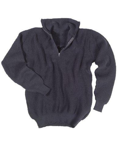 Svetr Troyer s límečkem - modrý, 46