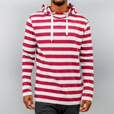 Mikina Just Rhyse Hoodie Stripes - červená, S