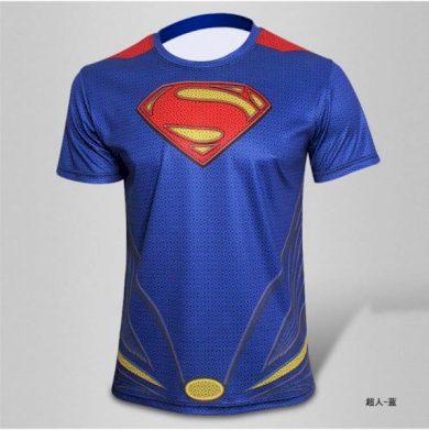 Sportovní tričko Superman - modré, S