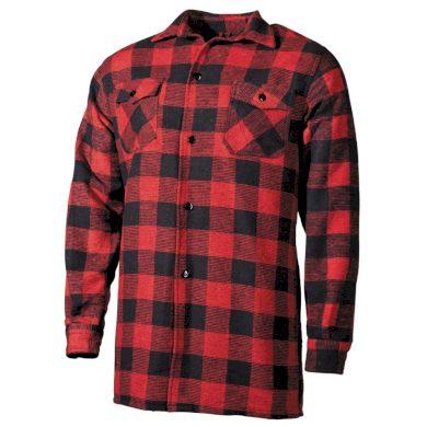 Košile kostkovaná dřevorubecká Fox Lumberjack - červená, 3XL