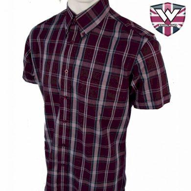 Košile Warrior Vintage Short Down Watt - fialová, S