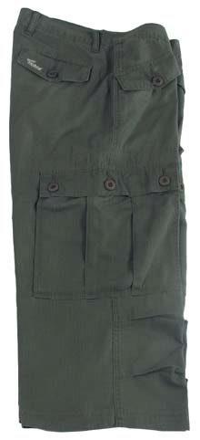 Outdoor 3/4 kalhoty - olivové, XS