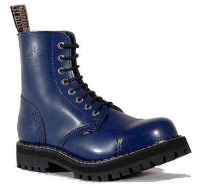 Boty Steel 8-dírkové - modré, 37