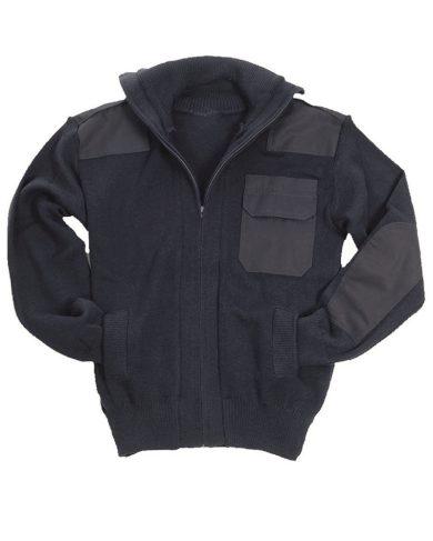 Svetr na zip s kapsou Mil-Tec Cardigan - navy, 46