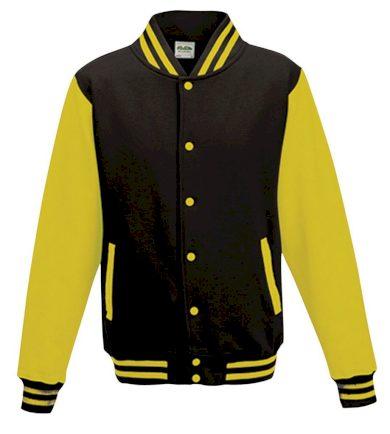 Bunda Alex Baseball - černá-žlutá, L