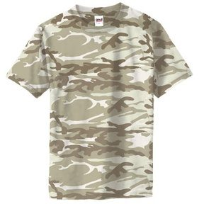 Maskáčové tričko Anvil - desertstorm, L