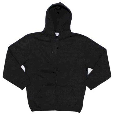 Mikina s kapucí Pro Company Zip - černá, M
