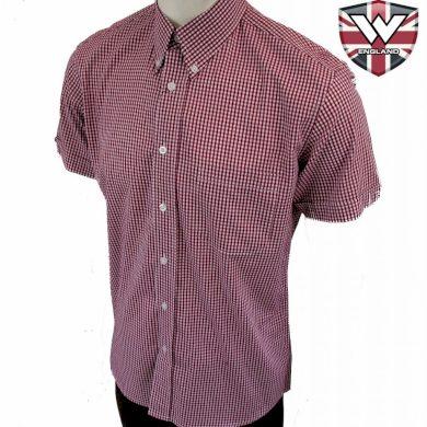 Košile Warrior Vintage Short Down Lazenby - fialová-bílá, S