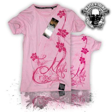 Tričko dámské Mafia & Crime Flowers - růžové, XS
