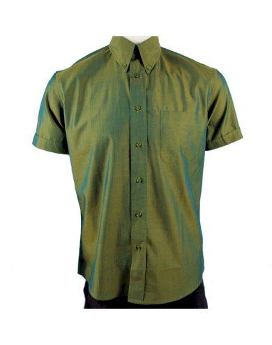 Košile Warrior Vintage Short 2 Tone - zelená, M