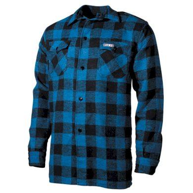 Košile kostkovaná dřevorubecká Fox Lumberjack - modrá, 3XL