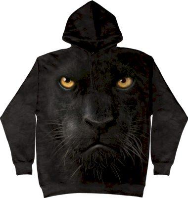 Mikina The Mountain Hoodie Black Panther Face - černá, L