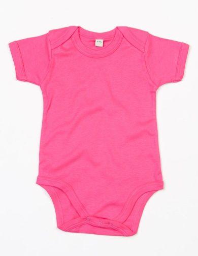 Dětské body Babybugz Organic Baby Short - tmavě růžové, 3-6 měsíců