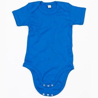 Dětské body Babybugz Organic Baby Short - modré, 6-12 měsíců