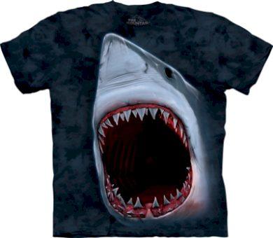 Tričko unisex The Mountain Shark Bite - šedé, XL