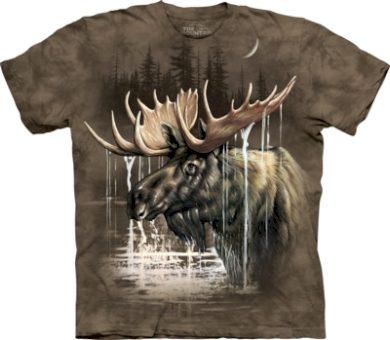 Tričko unisex The Mountain Moose Forest - hnědé, S