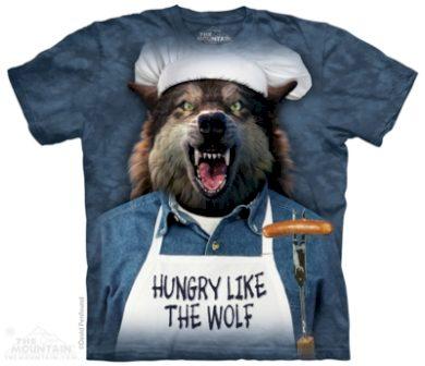 Tričko unisex The Mountain Hungry Like The Wolf - modré, XXL