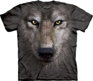 Tričko dětské The Mountain Wolf Face - šedé, S