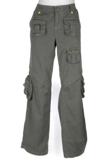 Kalhoty dámské Anton Vintage - olivové, S