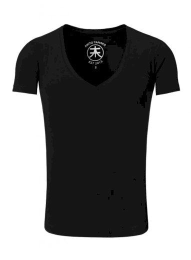 Tričko Akito Tanaka V-Neck - černé, XL