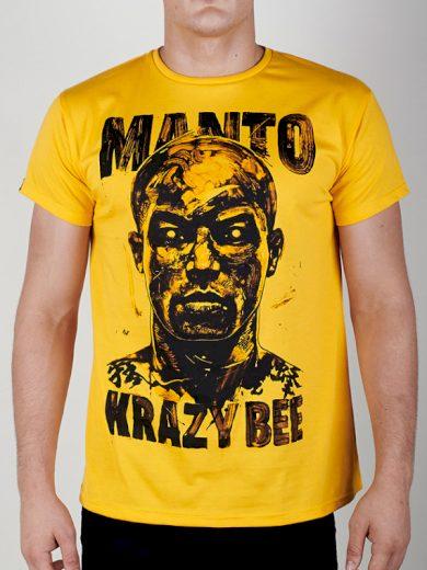 Tričko Manto Krazy Bee - žluté, S