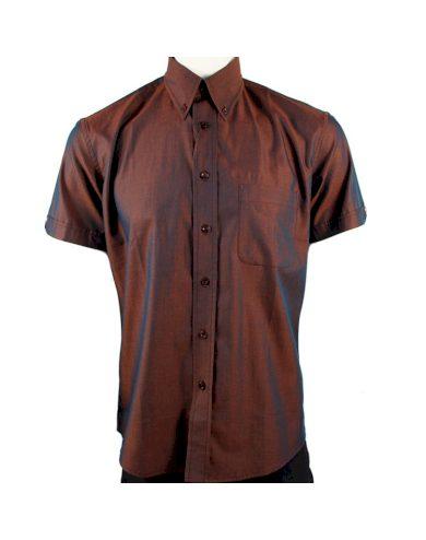 Košile Warrior Vintage Short 2 Tone - hnědá, XXL