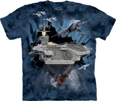 Tričko unisex The Mountain Aircraft Carrier - modré, 4XL