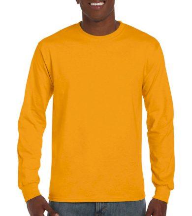 Triko s dlouhým rukávem Gildan Ultra - žluté, S