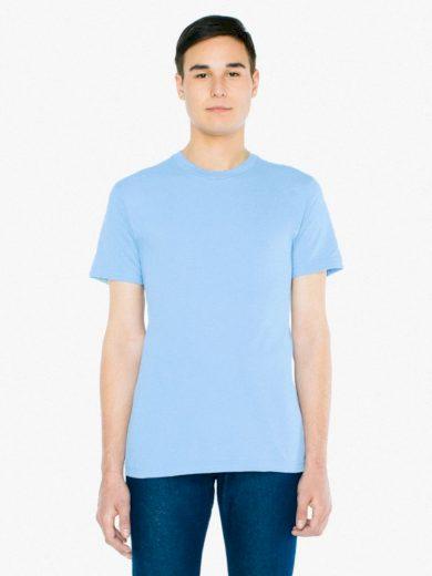 Triko American Apparel Fine Jersey - světle modré, M