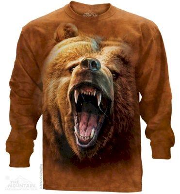 Mikina The Mountain Long Grizzly Growl - hnědá, XXL