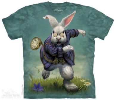 Tričko unisex The Mountain White Rabbit - modré, M