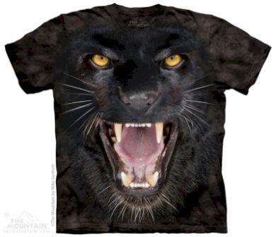 Tričko dětské The Mountain Aggressive Panther - černé, S