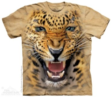 Tričko dětské The Mountain Angry Leopard - béžové, S