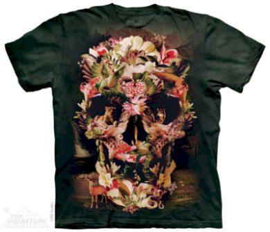 Tričko dětské The Mountain Jungle Skull - zelené, L