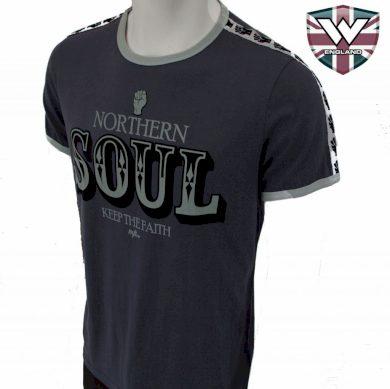 Tričko Warrior Classic Northern Soul - šedé, S