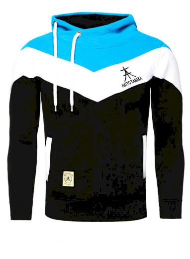 Mikina s kapucí Akito Tanaka Arrow - černá-modrá, S
