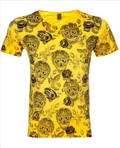 Tričko EKSI Skullhead - žluté, L